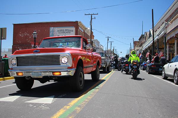 at the Virginia City Memorial Day Parade
