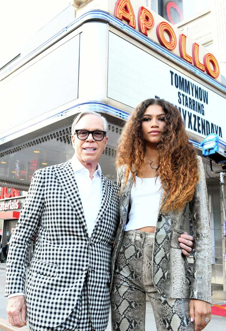 Tommy Hilfiger poses with co-designer and collaborator Zendaya for TommyxZendaya Fall 2019 Collection