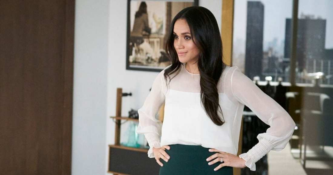 Image of character Rachel Zane played by actress Meghan Markle dressed by USA Network's Suits Costume Designer Jolie Andreatta