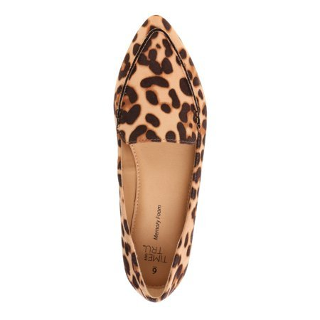Product image of Walmart Time and Tru Women's Animal Print Feather Flats