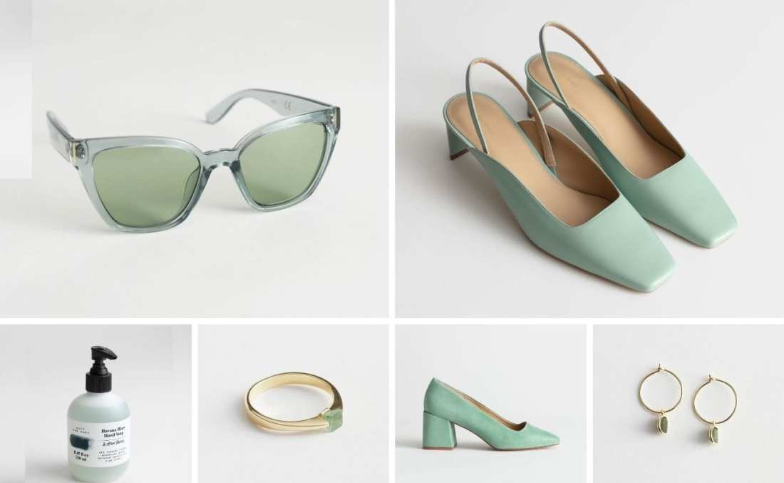 Click to shop & Other Stories clothes and accessories in pistachio green
