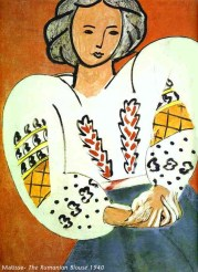 Matisse - The Rumanian Blouse 1940