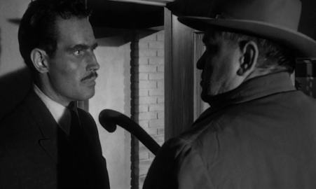 Orson Welles and Charlton Heston as the leads in Touch of Evil