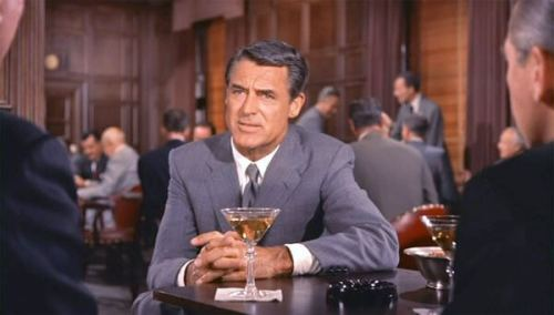Suspense in North By Northwest with Cary Grant as Roger Thornhill