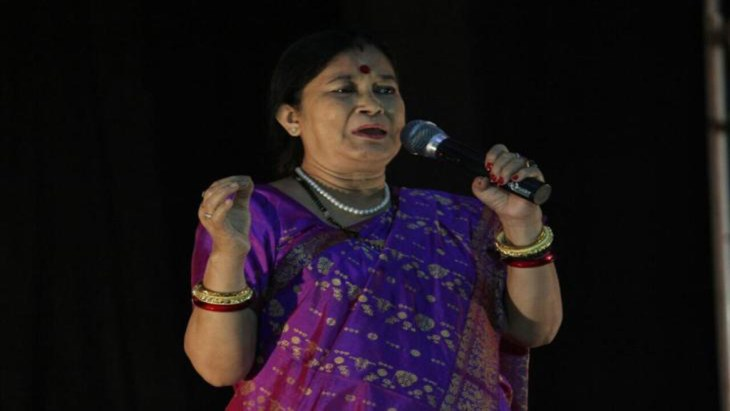 Puloma Das Joshi performing on stage