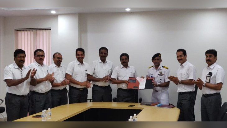 Indian Navy with GSI officials