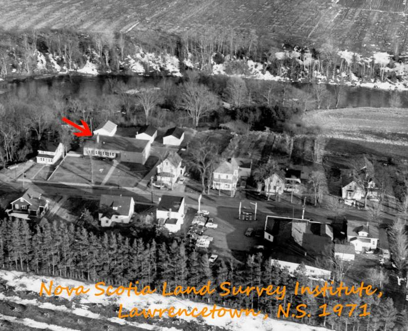 Oblique Airphoto showing location of NSLSI in Lawerncetown, NS