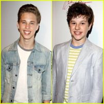 Ryan Beatty and Nolan Gould attend the premiere of 'From One Second to the Next' by critically acclaimed German director Werner Herzog featuring Xzavier Davis-Bilbo