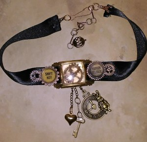 Book Fairy Steampunk Choker Necklace