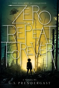 Zero Repeat Forever cover shows sunrise in a forest of skeleton trees and a single silhouette in the center.