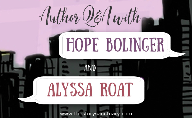 Author Q&A Hope Bolinger Alyssa Roat