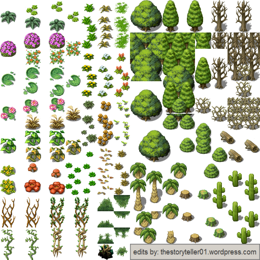 Complete Plant Tileset for RPG Maker VX Ace