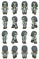 Zombie Sprites 4 for RPG Maker XP (1/2)