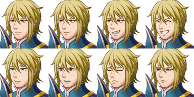 Faceset matching stock sprite Actor2_1 from RPG Maker MV (includes version for XP/VX) (2/2)