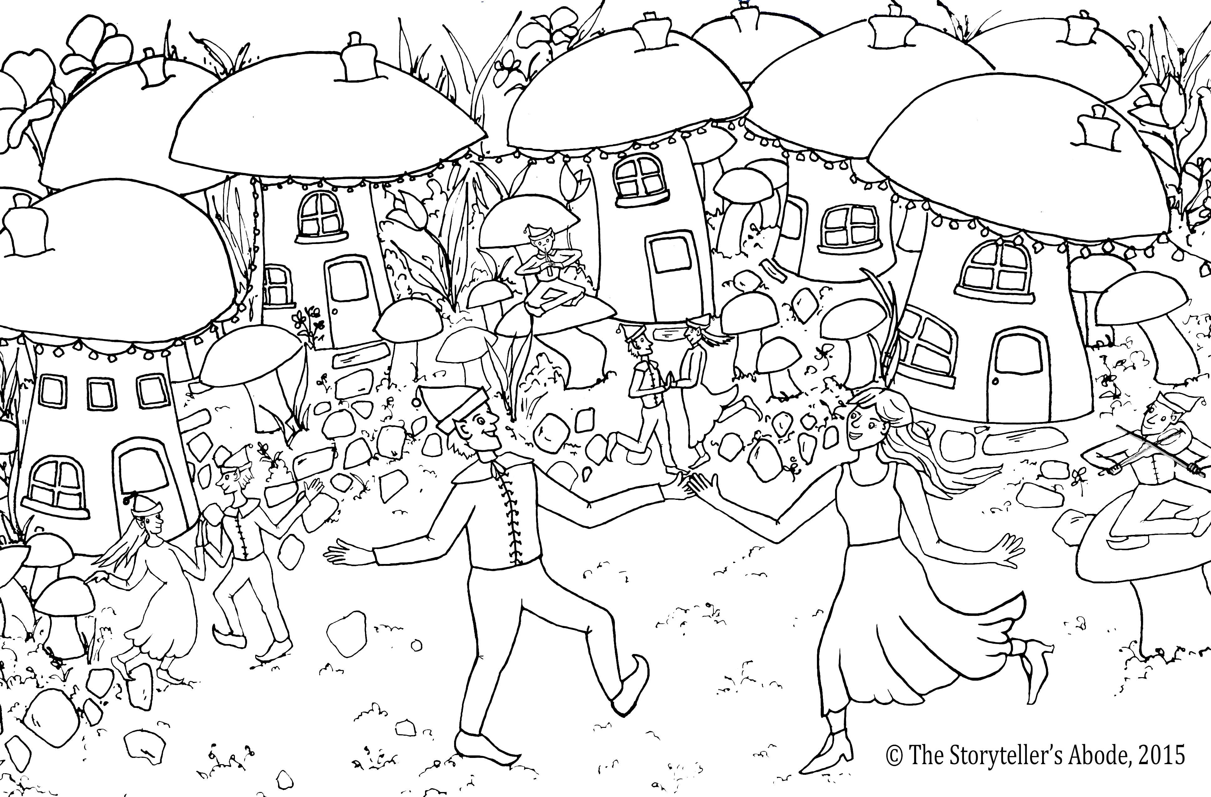 Free coloring pages of the enchanted wood