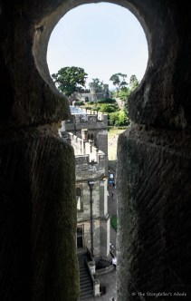 view through arrow slit