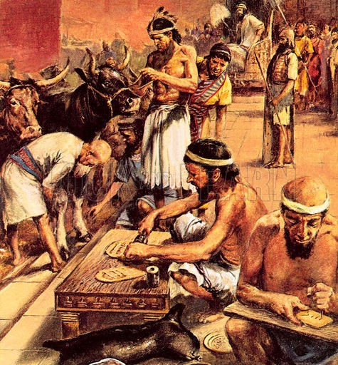 Sumerians in the street