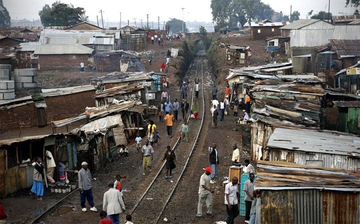 Kibera Slum in modern Nairobi, Kenya