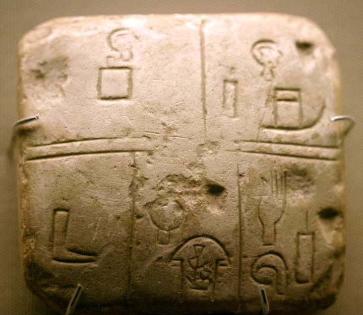Sumerian proto-writing from Kish
