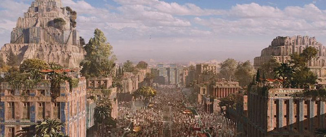 "A crumbling old city of Mesopotamia (from the movie ""Alexander"")"