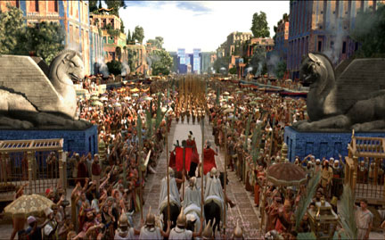 "The city of Babylon (from the movie ""Alexander"")"
