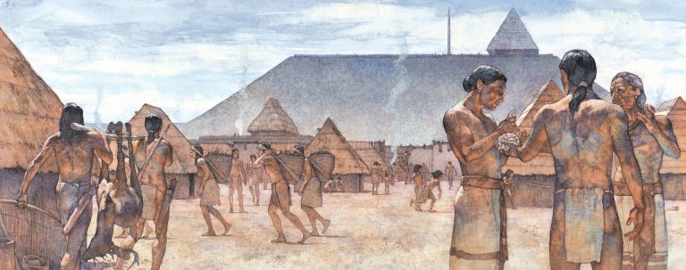 The Mississippian city of Cahokia, circa 1100 CE