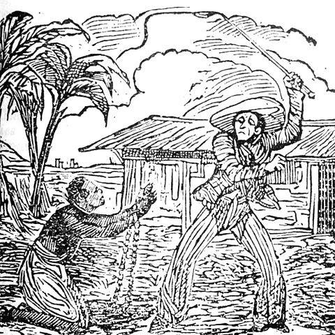 Romani slave on a Romanian plantation, early 1800s