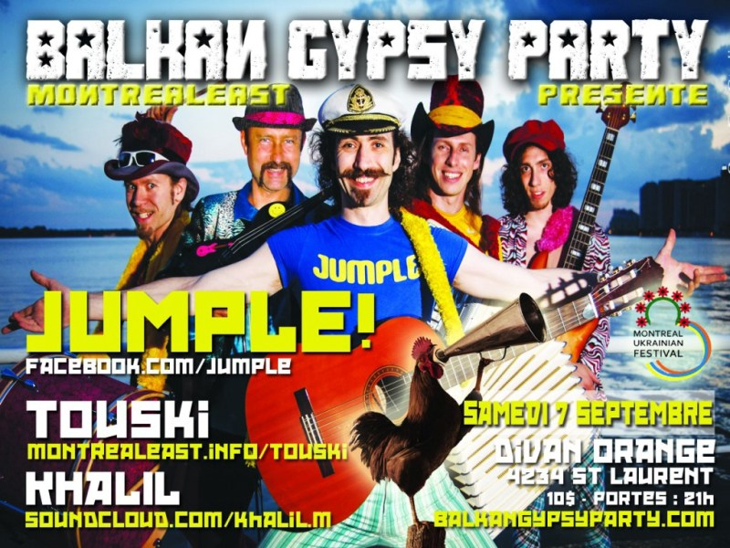 """Ad for a """"Gypsy music"""" party in the Ukraine"""