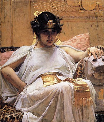 Cleopatra, looking much more attractive than contemporary sources describe her