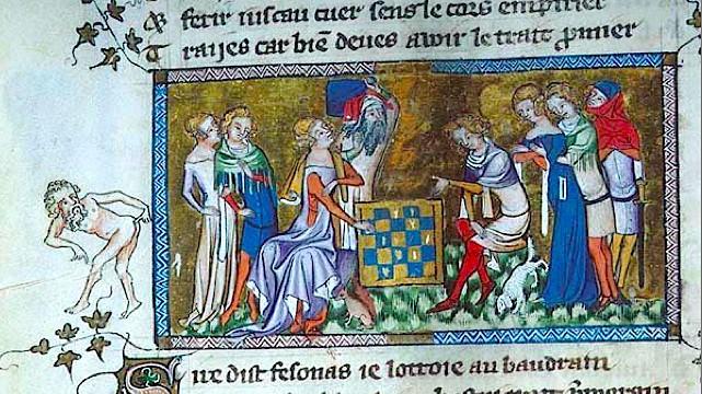 More strange medieval manuscript margin art