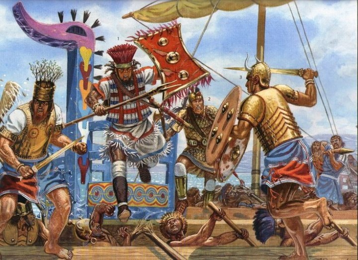 Achaeans (ancestors of the Greeks) as they looked at the time of the Trojan War
