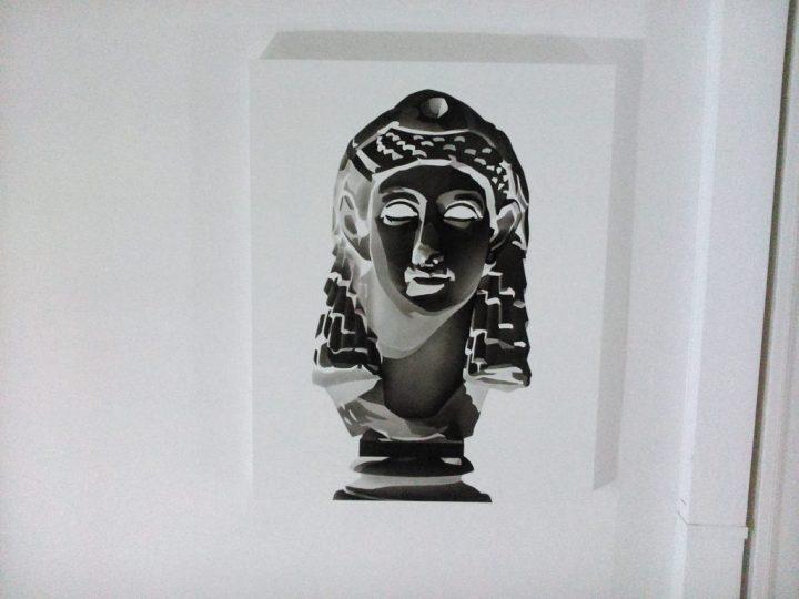 """Cleopatra."" Acrylic on panel, 61 x 77 cm."