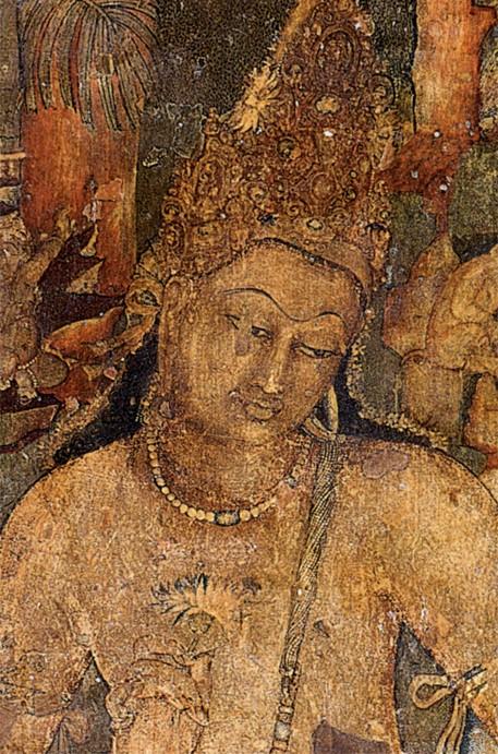 Painting of Padmapani at Cave 1, Ajanta