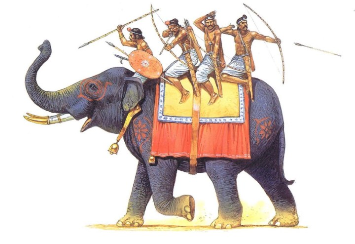 Gupta elephant-archers