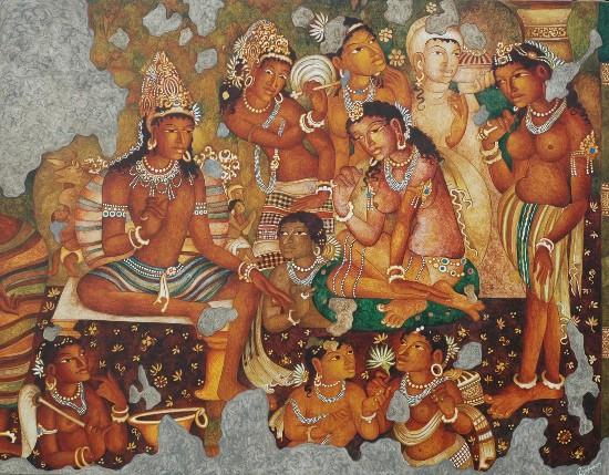 Gupta-period painting, Ellora Cave