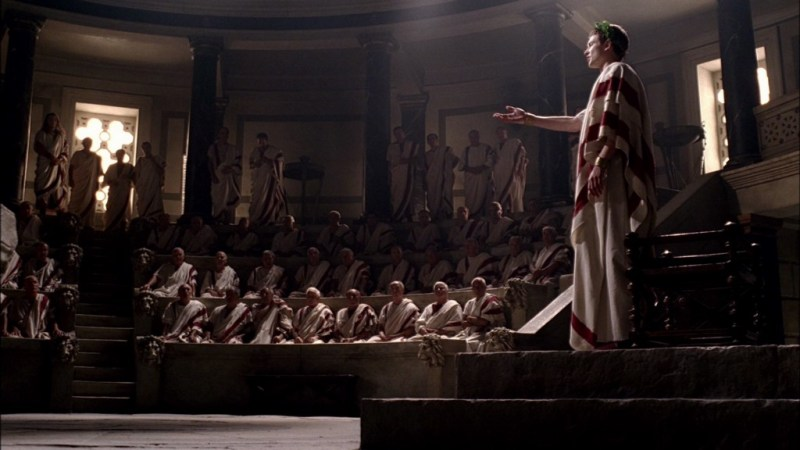 """The Roman Senate, as depicted on the TV series """"Rome"""""""