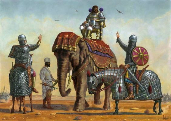 Sasanian armored heavy cavalry