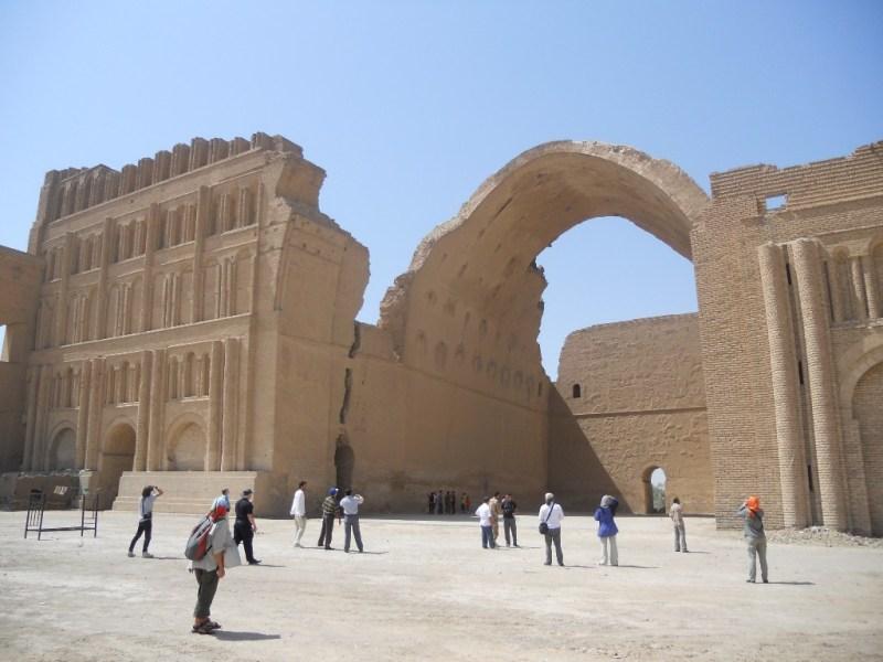 The remains of the Sasanian royal palace at Ctesiphon, in modern Iraq.