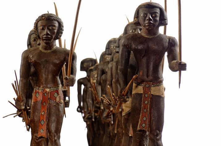 Kushite warriors, depicted in Egyptian Middle Kingdom style