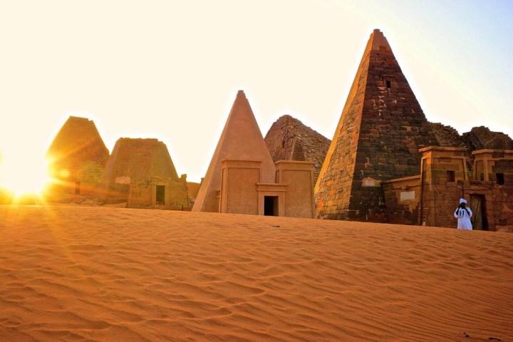 The pyramids of Meroë in modern Sudan