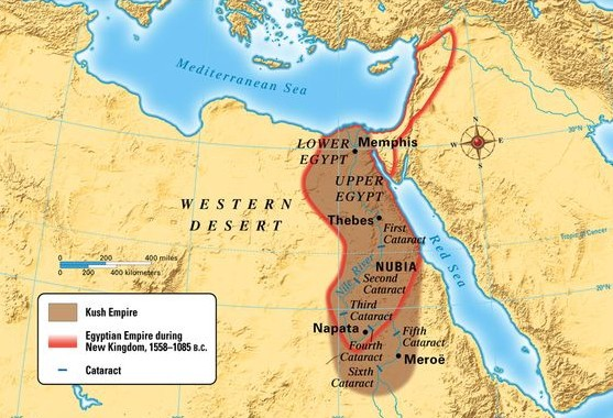 The Kushite Empire at its greatest extent, circa 700 BCE