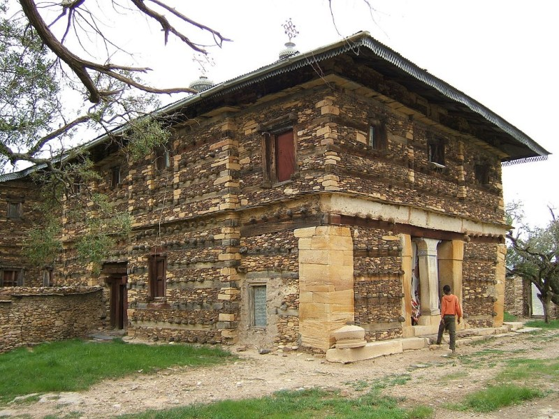 Aksumite Church at the Debre Damo monastery, Ethiopia; constructed circle 600 CE