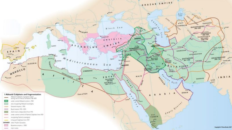 The House of Islam (Dar al-Islam) in the 800s-1000s.