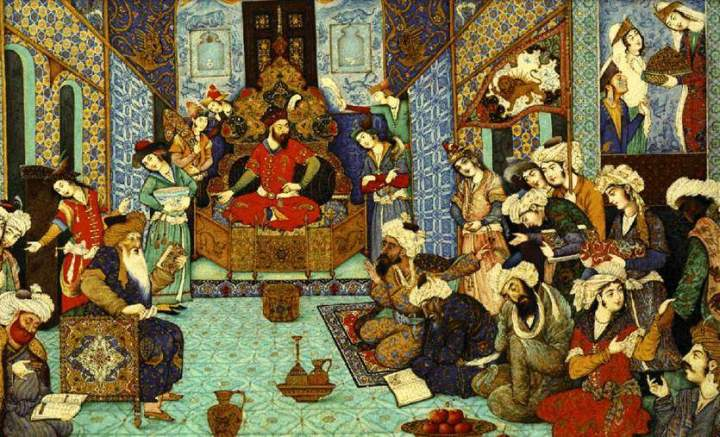 Sultan Mahmud holds court in the city of Ghazni.