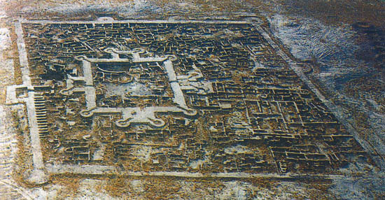 The full plan of the ancient city at Gomur