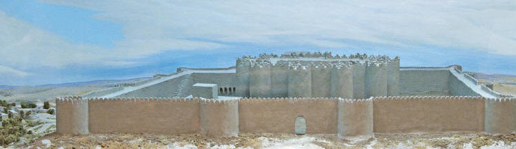A reconstruction of the walls and central citadel at Gonur, as they may have looked circa 2300 BCE.