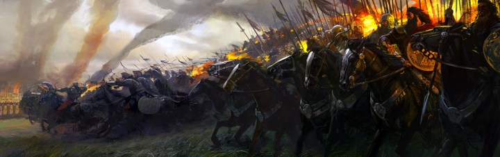 Scythian horsemen face off against Alexander's cavalry at the Battle of Jaxartes. (Image by Alexander Deruchenko)