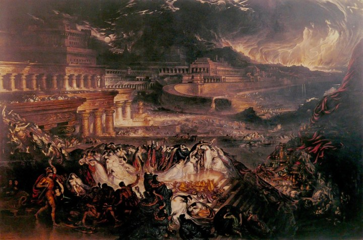 """The Fall of Nineveh"" (1829) by John Martin."