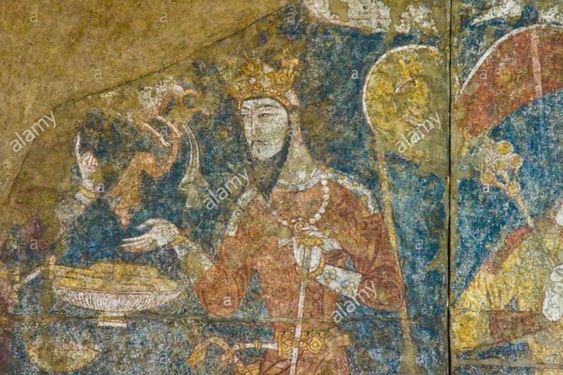 A Sogdian noblemen, from a fresco in Panjikent.
