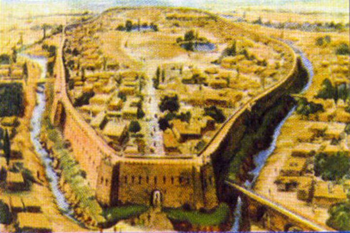 The city of Samarkand, as it looked in the 700s CE.